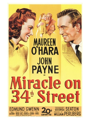 Miracle on 34th Street: Movie Posters, Street 1947, Classic Movie, Christmas Movie, Holidays Movie, Nataliewood, Favorite Movie, Natalie Wood, 34Th Street