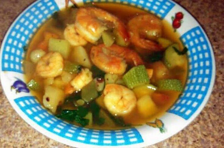 """Caldo De Camarones - """"warm & spicy shrimp soup"""" @allthecooks #recipe"""