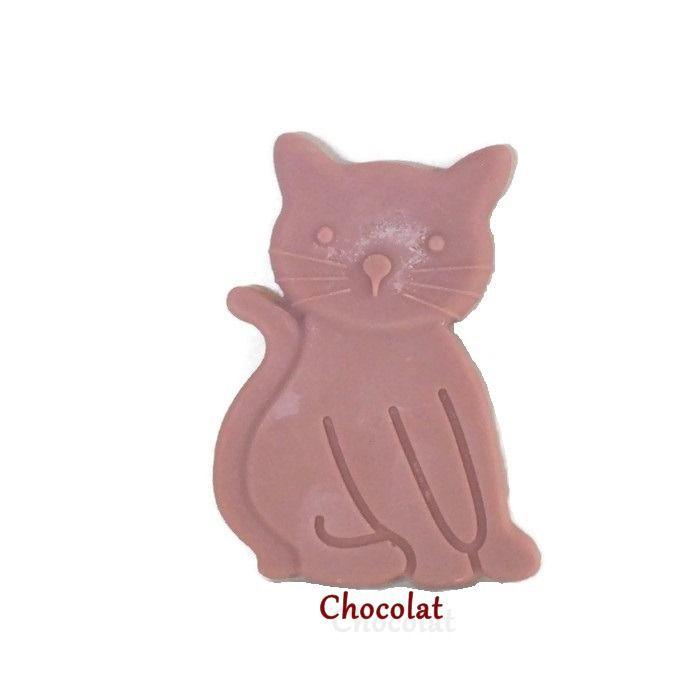 Fondant Brûle Parfum Chocolat Grand Chat Animaux Cire Végétale naturelle Parfum d'ambiance : Luminaires par fondants-de-cire-parfumes-fleur-artifice