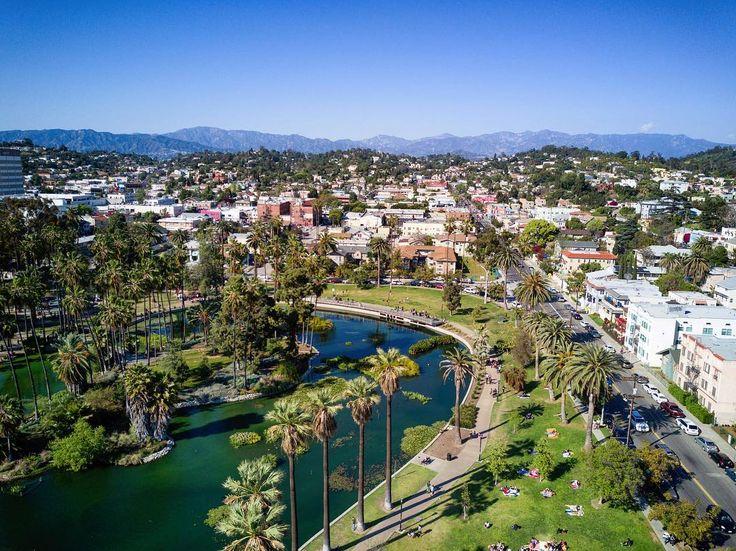 Location Echo Park Los Angeles DJI Mavic Pro Dji Djimavic Drone City Lake Dronestagram Discovererdrone Dronephotography
