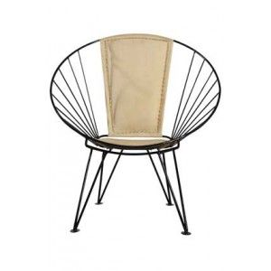 House Doctor zwart ijzeren design draad stoel Tumble Fa0112