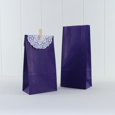 Party Bags http://missmouseboutique.co.nz/shop/party-bags/paper-party-bag-purple/