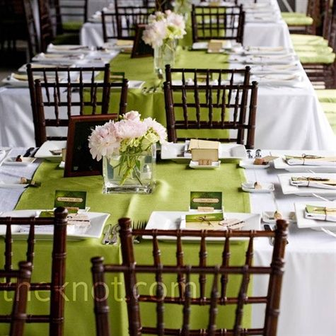 Green Reception Decor