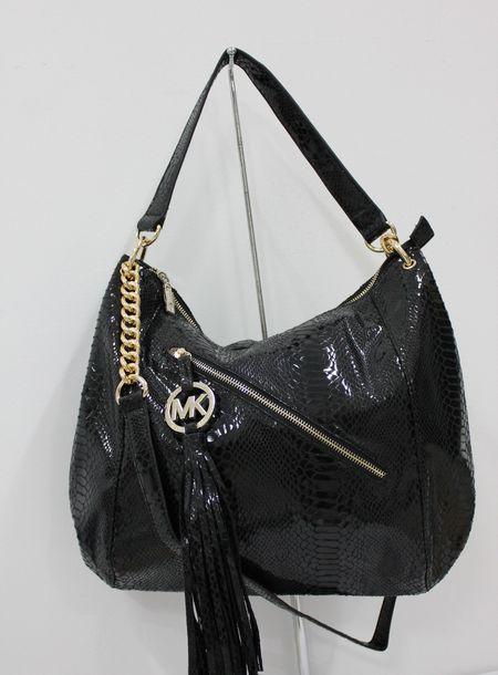 Michael Kors Chain Tassel Large Black Shoulder Bags 70