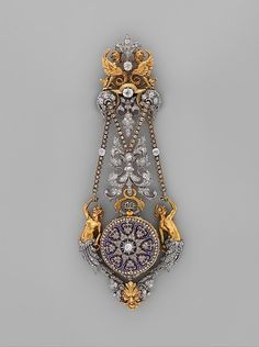 """Hippolyte Téterger (French, 1831–after 1891). Watch and Chatelaine, ca. 1875–78. French, Paris. The Metropolitan Museum of Art, New York. Gift of Cele H. and William B. Rubin, 1959 (59.43a–c) 