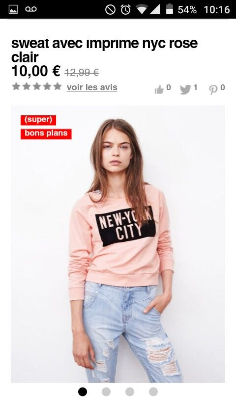 Sweat avec imprimé nyc rose clair