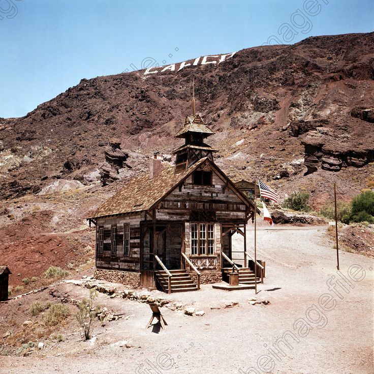 Image of U.S.A., California, Barstow: Calico Ghost Town, an old silver mining town in the Mojave Desert, restored by Walter | Peter Michael Rhodes