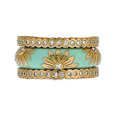 hidalgo pendant jewelry   ... Rings Pastel Collection Set (RS6028 & RN2017) - Hidalgo Jewelry