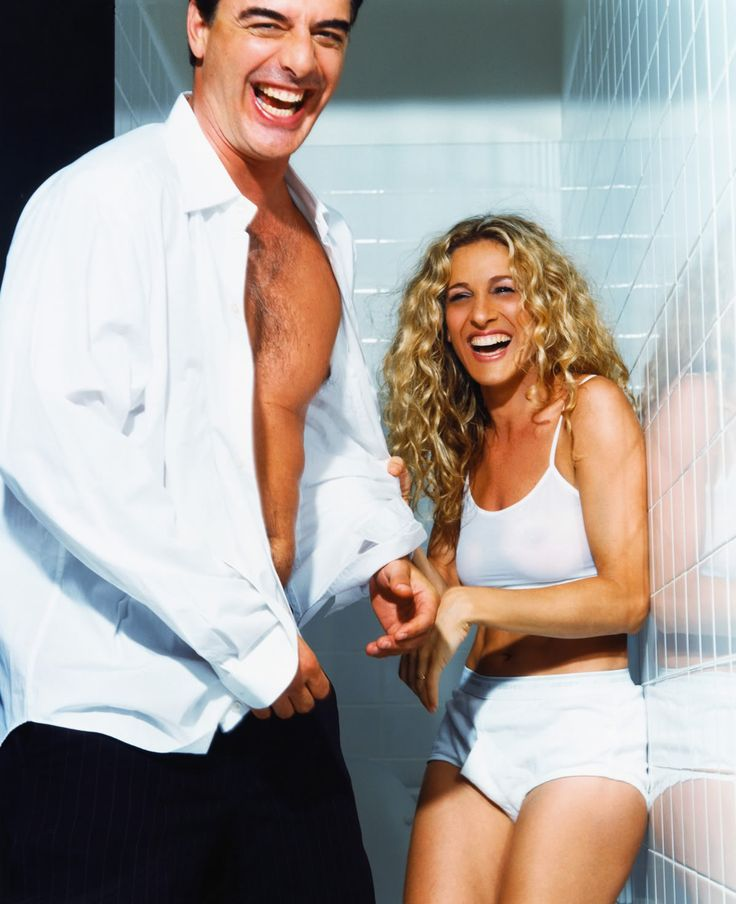 Love this photo of Carrie and Big! (Chris Noth and Sarah Jessica Parker.)