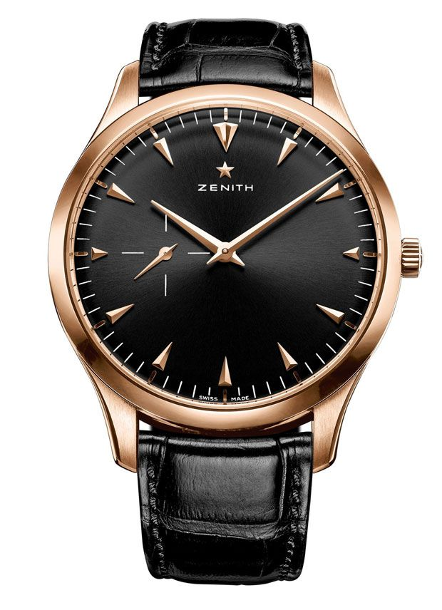 Zenith luxury watch - Zenith Heritage Ultra Thin Black Dial 18K Rose Gold 40MM $8,900 Water Resistant to 50 Meters http://www.chrono24.com/en/zenith/heritage-ultra-thin-black-dial--18k-rose-gold-40mm--id2164918.htm #Zenith #watches #chronograph