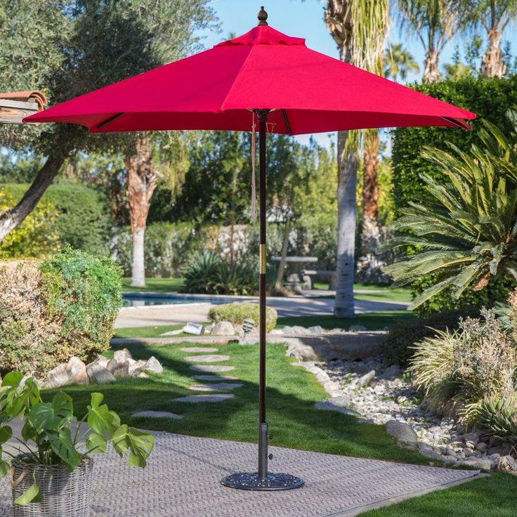 Belham Living 7.5 Ft Sunbrella Commercial Grade Aluminum Wind Resistant Patio  Umbrella   725AB 54011