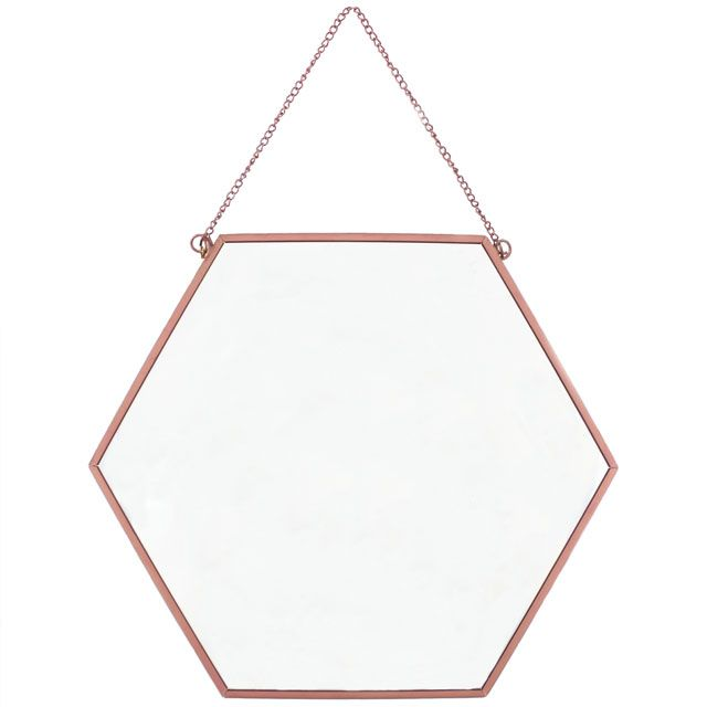 Wholesale Large copper geometric mirror - Something Different