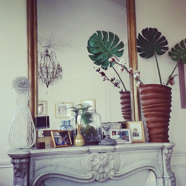 Living room fireplace mantle of my #airbnb #Paris  http://www.airbnb.com/rooms/6025516 #airbnbphoto #airbnbfun