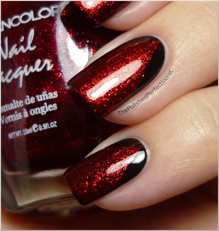 25+ Best Ideas About Red Black Nails On Pinterest