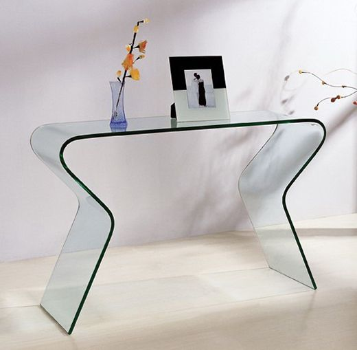 20 best meubles en verre courb images on pinterest glass furniture console and console tables. Black Bedroom Furniture Sets. Home Design Ideas