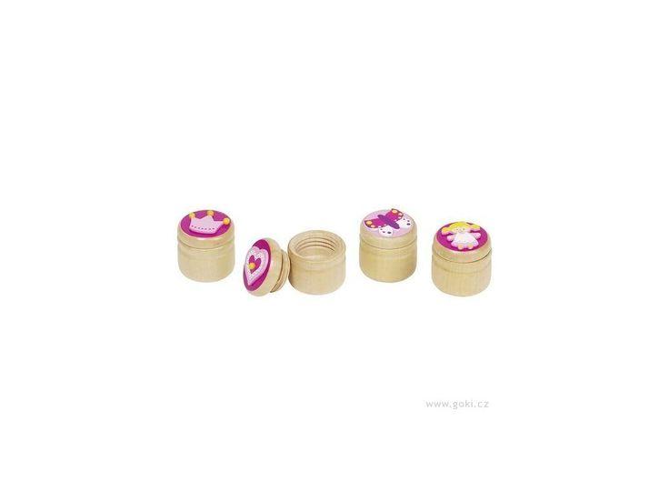 Dřevěná krabička na první zoubky pro holčičky . Dřevěná krabička na první zoubky – srdíčko, korunka …