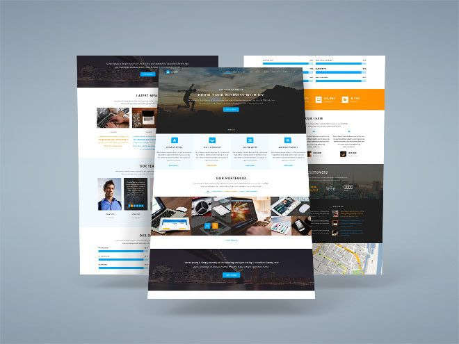 Mylab Responsive PSD Web Template
