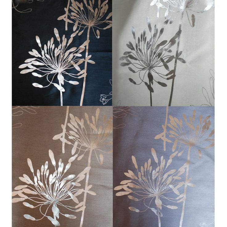 lambrequin liliana grommet with silver metallic pattern 96 inch curtain panel by lambrequin - 96 Inch Curtains