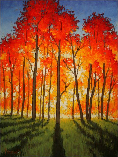 Anton Pavlenko: Painting to New Heights. Beautiful aspen trees.