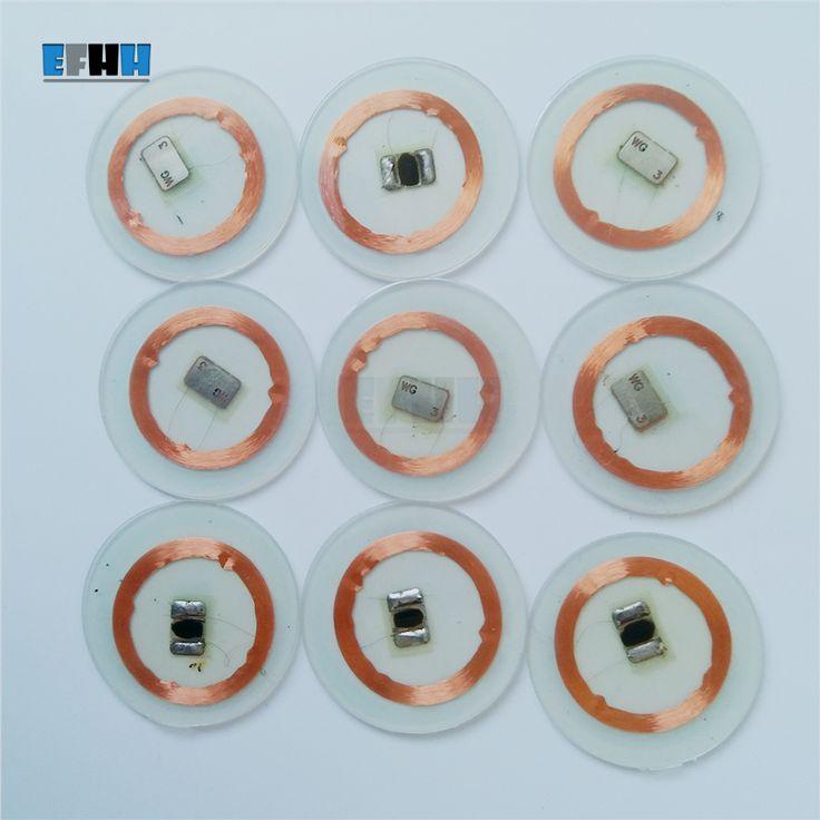 125 Khz em4305/em4205チップ+コイル径25ミリメートル透明pvcコインカードrfid idカードでアクセス制御カード