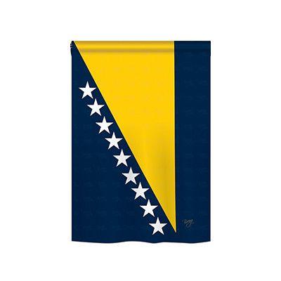 TwoGroupFlagCo Bosnia and Herzegovina 2-Sided Vertical Flag Size: