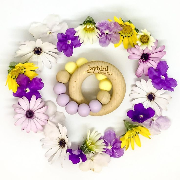 Classic Teether in butter and lavender - Jaybird Creative (@jaybird.creative) on Instagram