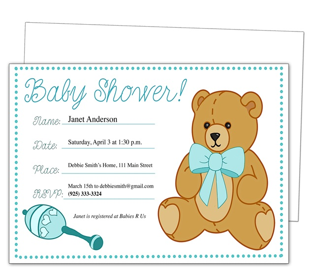 42 best Baby Shower Invitation Templates images on Pinterest - baby shower invitations free templates online