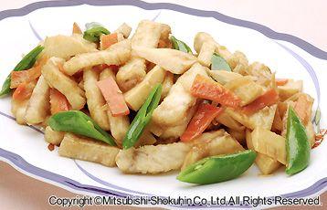 白身魚と春野菜の中華炒め
