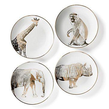Safari Plates - Set of 4 | Dinnerware | Tableware | Z Gallerie