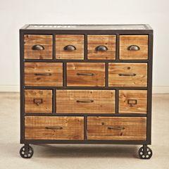 12 Континентальный чердак шкафы для хранения мебели ящик шкафа дерева и железа четыре американской страны, чтобы сделать старый ретро ветроэнергетике