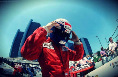Alain Prost. Detroit, 1986