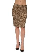 Women's Vince Sequin Pencil Skirt in Gold Multi