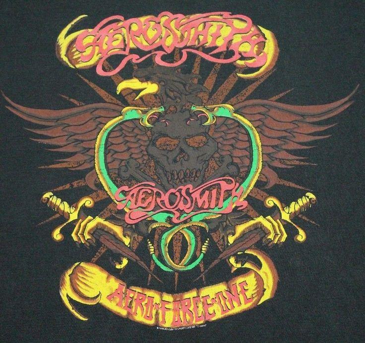 M * vtg 90s 1993 AEROSMITH tour t shirt * 89.65   eBay