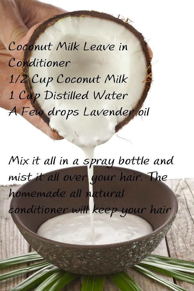 Homemade leave in conditioner