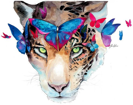 Verde ojos firmado Art Print por PixieColdArt en Etsy