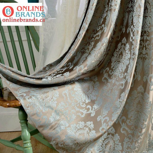 European Damask Curtains Free Shipping Online Brands In 2020 Blue And Gold Curtains Curtains Living Room Luxury Curtains Living Room