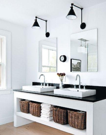 simple.  bathroom lights