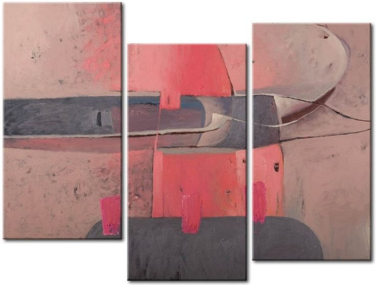 Abstract triptych in calm colour palette is one of those decorations every home need!
