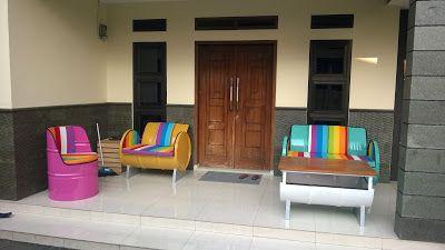 Galeri Umah Tong: Desain Sofa Unik Dari Drum Bekas, Tampak Mewah dan...