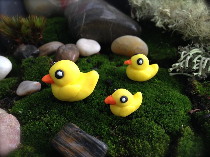 Handmade polymer clay ducks. Follow us on Facebook www.facebook.com/ck.kreations