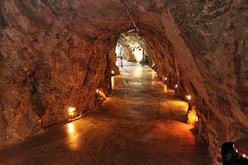 Interiores de la Minas de Zacatecas, Mexico.