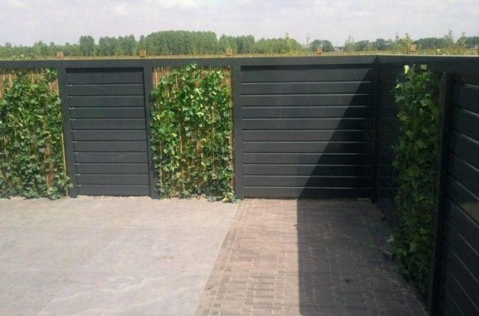 Steigerhouten schutting google zoeken tuin decoratie en inspiratie pinterest schutting - Idee decoratie terras ...