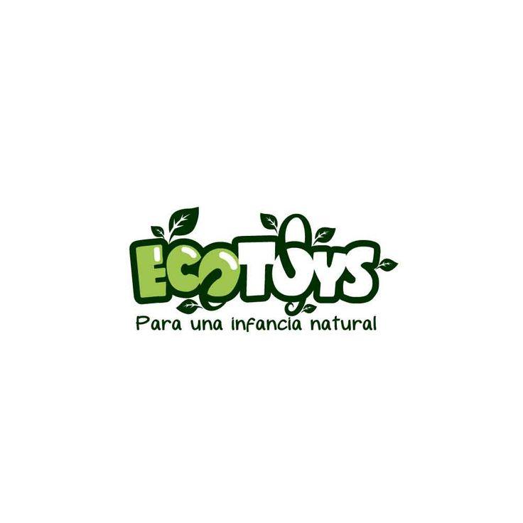 Logotipo desarrollado para marca de juguetes ecológicos.