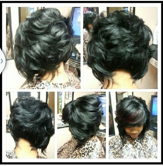 african american little girl braid hairstyles : ... African American Feathered Bob Hairstyles. on short feathered bob