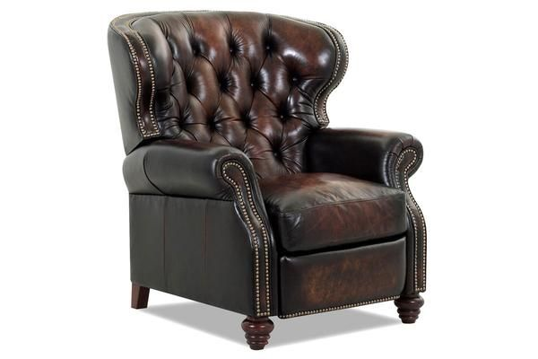 Arthur Chesterfield Leather Wingback Recliner Tufted Reclining Chair Leather Recliner Tufted Leather Chair Leather Chair