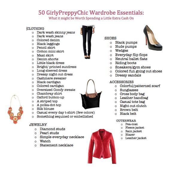GirlyPreppyChic Wardrobe Essentials
