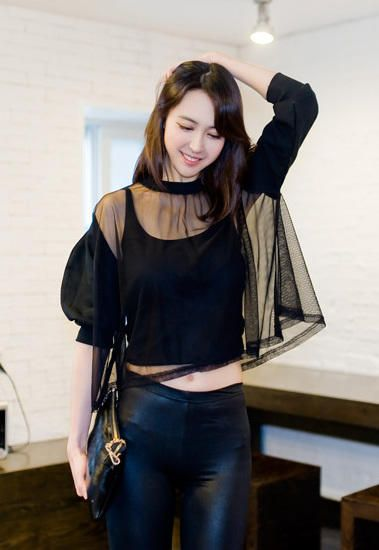 mesh boxy top from Kakuu Basic. Saved to Kakuu Basic Blouses & Shirts. Shop more products from Kakuu Basic on Wanelo.