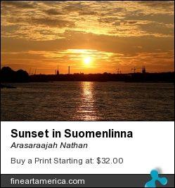 Sunset in Suomenlinna