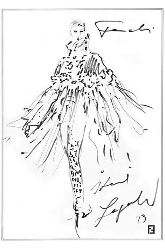 Fendi by Karl Lagerfeld Sketch