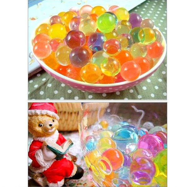 2000 pcs multi warna Tanaman Bunga Jelly Crystal Lumpur Tanah Air Tanah Mutiara Air Gel Beads pernikahan Home Decor (Warna acak)